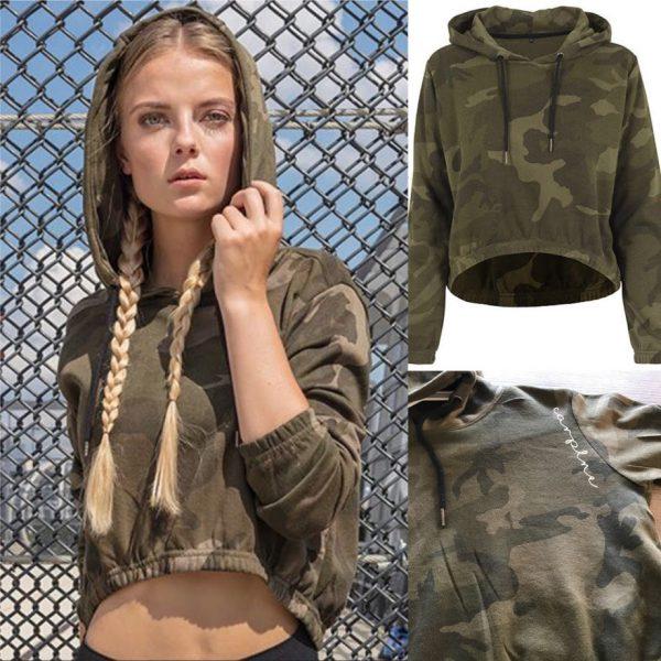 Cropped hoodie dames CarpLne