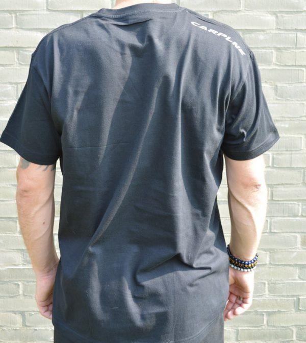 CarpLne shirt zwart met schouderbedrukking