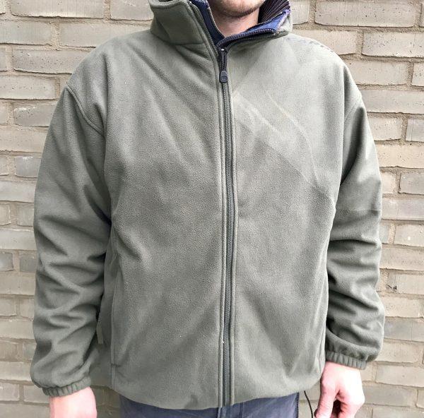 Groene Fleece vest voorkant