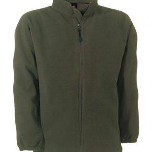 Groene fleece vest voor dames en heren