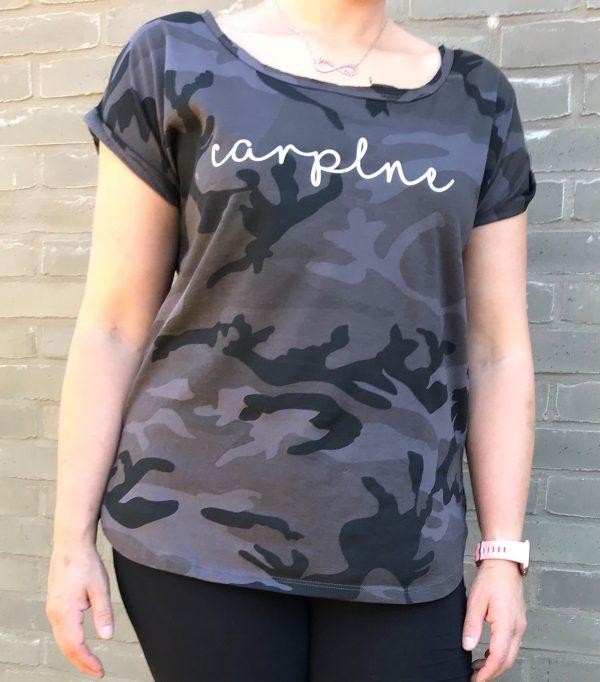 CarpLne long slub camo voorkant