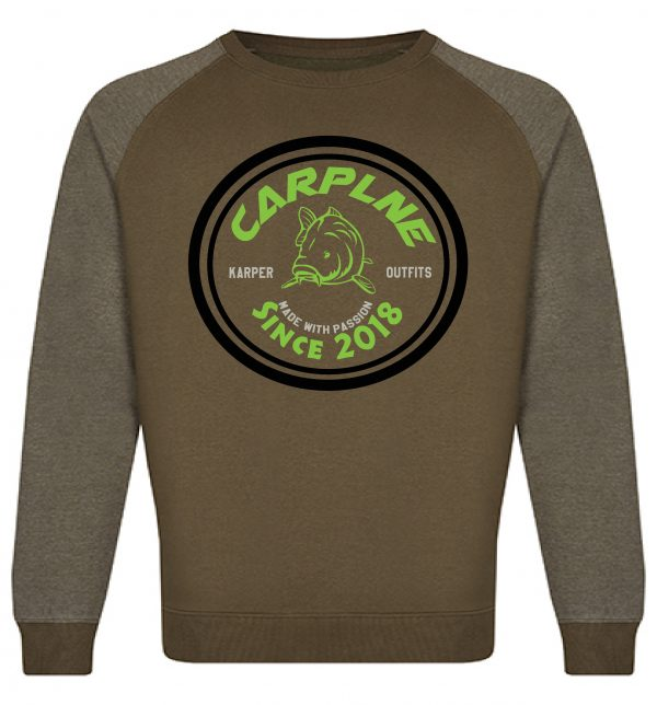mannen crewneck olijf groen logo