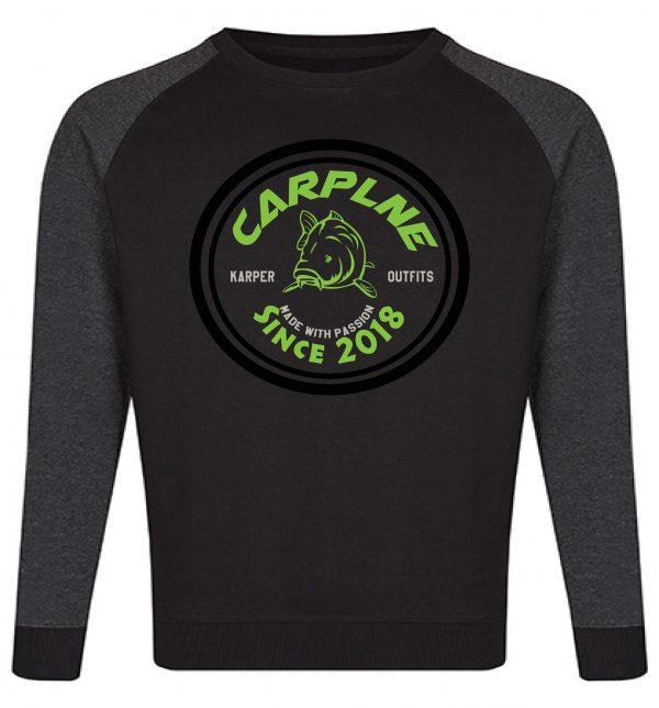 mannen crewneck zwart groen logo