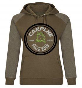 nieuwe dames hoodie olijf licht olijf logo