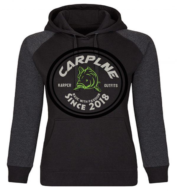 nieuwe dames hoodie zwart licht olijf logo