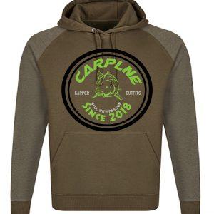 nieuwe heren hoodie olijf groen logo