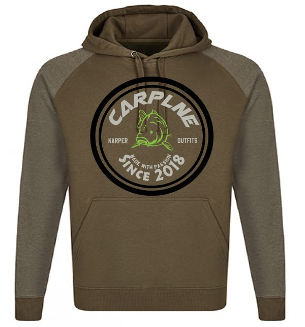 nieuwe mannen hoodie olijf licht olijf logo