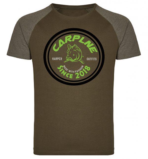 tshirt mannen olijf retro logo groen