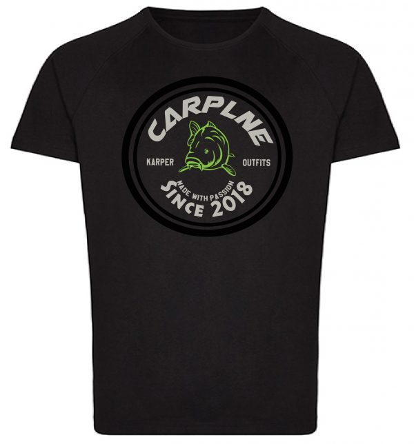 tshirt mannen zwart retro logo olijf