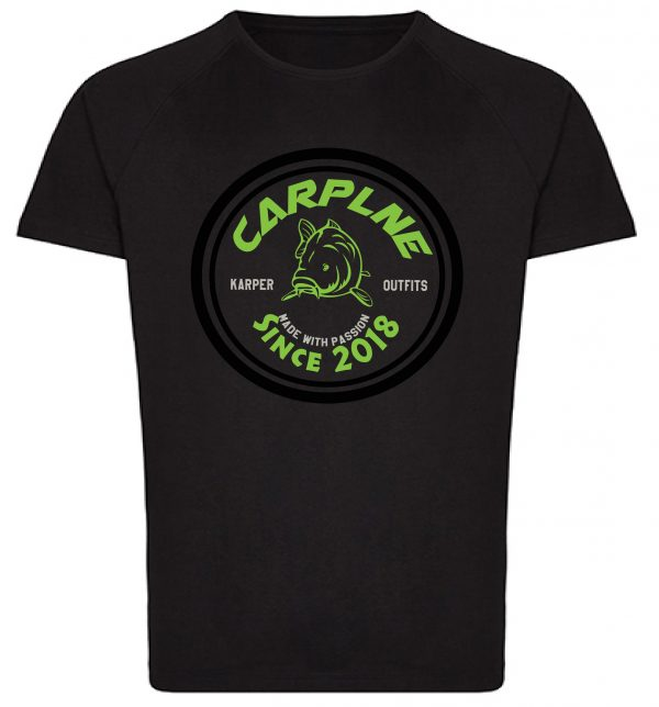 tshirt mannen zwart retrol logo groen