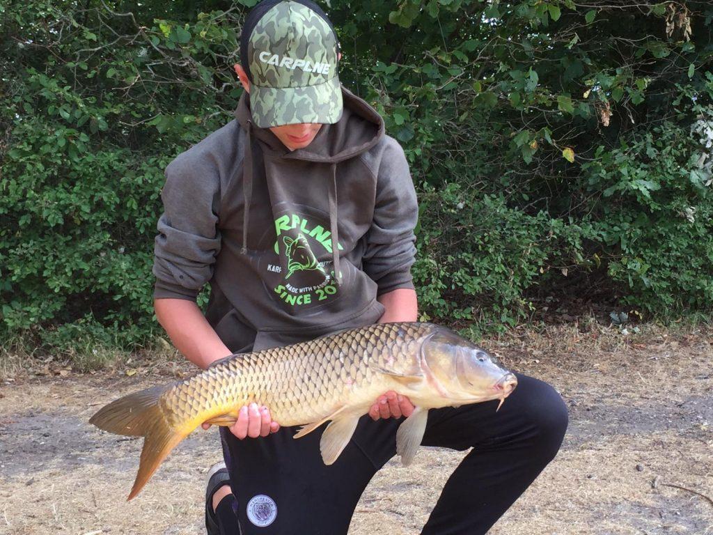 Sem Boch met een mooie vis