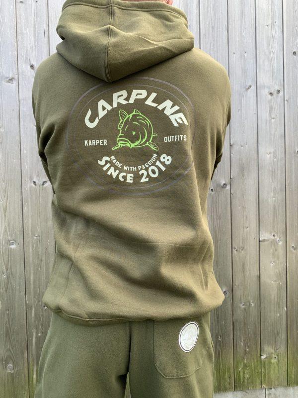 CarpLne hoodie olijf achterkant
