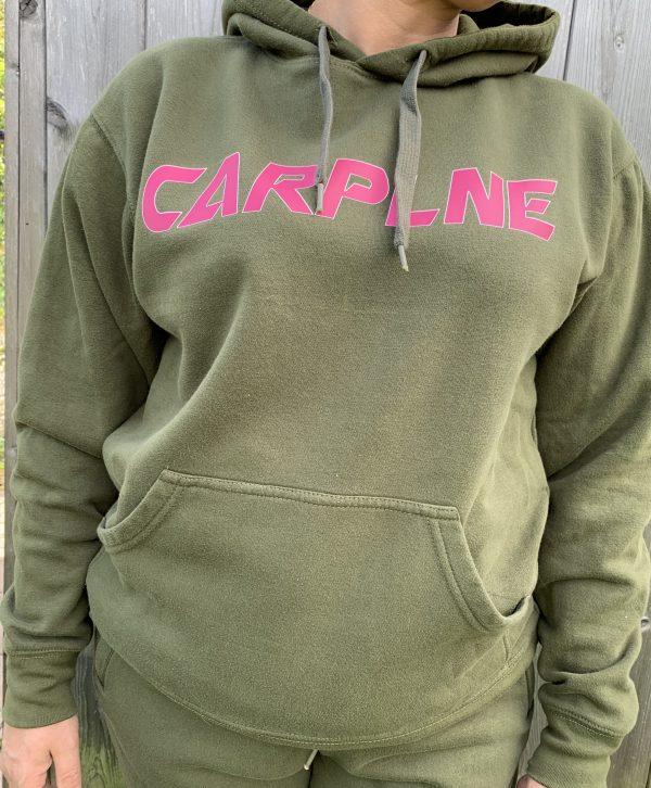 Carplne hoodie voorkant hotpink